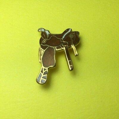 Brown Horse Saddle, Enamel Pin