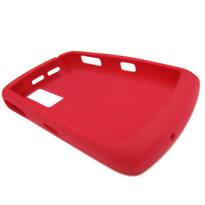 8330 Gel (BlackBerry Red Silicone Gel Rubber Skin Cover for Curve 8300 8310 8320 8330)