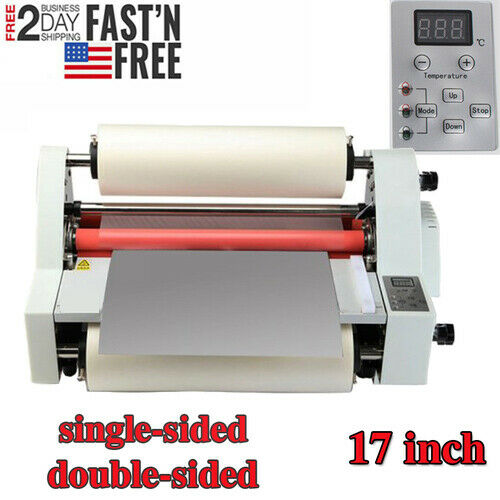 Electric Four Roller Eight Bearings Hot and Cold Roll Laminating Machine US Sale