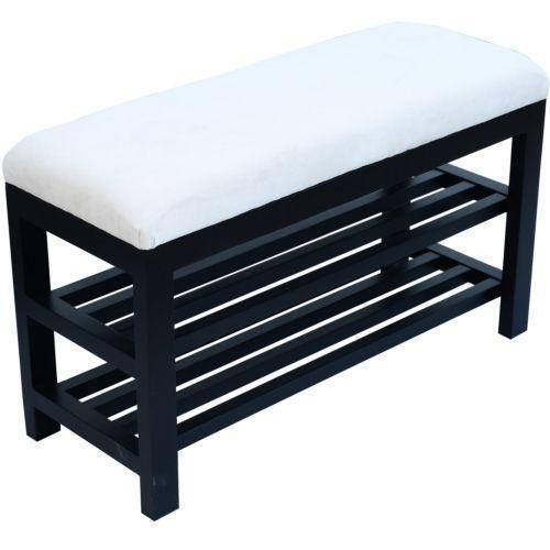 White Wood Bench