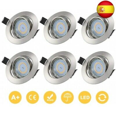 Kohree 6 x Foco Empotrable LED Techo GU10 baño Downlight LED Empotrable...
