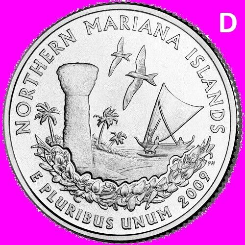 2009 D Northern Mariana Islands Quarter DC US Territory State  ~ UNC  2nd