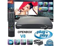 OPENBOX V8S LATEST MODEL WITH 12 IPTV GIFT - PLUG AND PLAY