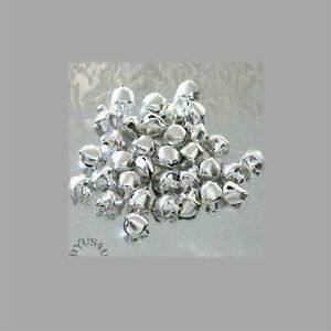BELL JINGLE METAL 6mm CRAFT JEWELRY EMBELLISHMENT 100pk FREE SHIPPING