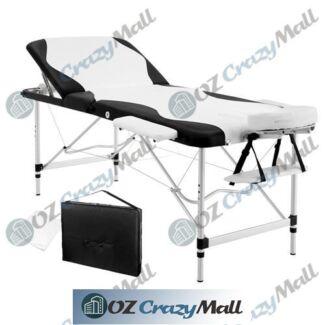 210cm Portable Aluminium 3-Fold Massage Table Bed FREE Carry Bag