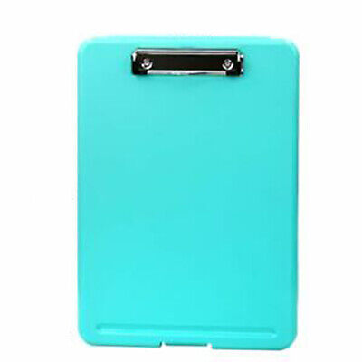 Blue Plastic Storage Clipboard File Folder Document Holder Office Student Supply