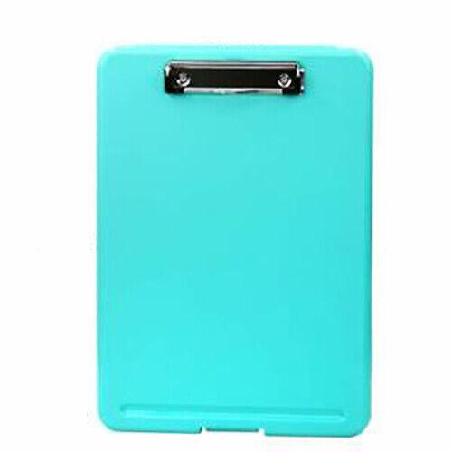 Blue Plastic Storage Clipboard File Folder Document Holder Office Student Supply