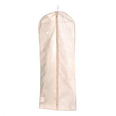 "Ivory 72"" Inch Long Wedding Gown Bride Dress Cover Garment Clothes Storage Bag"