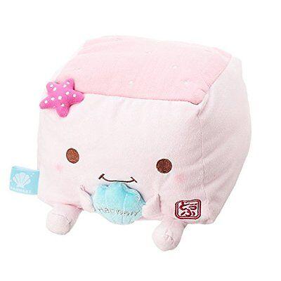 Grilled Tofu Stuffed Toy Cushion  Hannari Tofu Shell pink Size M F/S Japan Gift