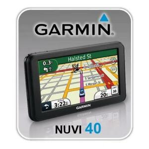"Garmin Nuvi 40 4.3"" Car GPS with North America + Europe Maps."