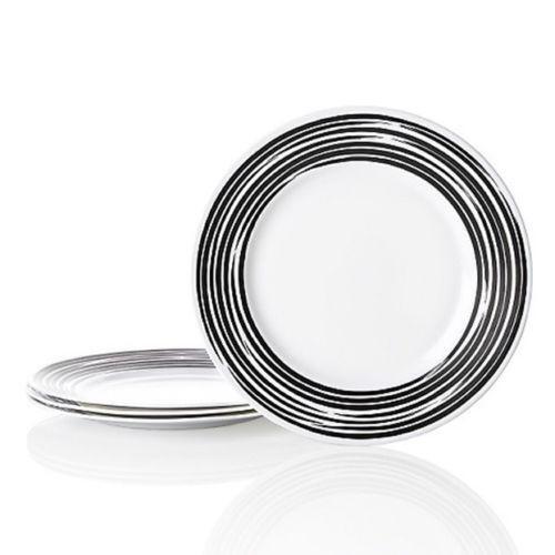 corelle dinnerware set black ebay. Black Bedroom Furniture Sets. Home Design Ideas