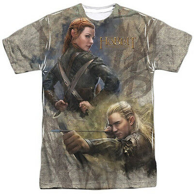 The Hobbit Legolas Elves Sublimation Front Print T-Shirt Size XXXL, NEW UNWORN