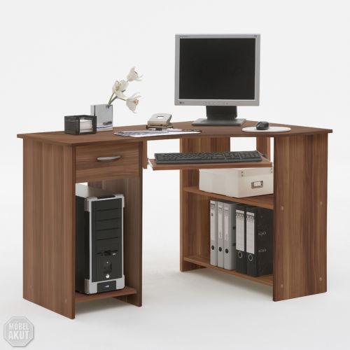 computertisch nussbaum schreibtische computerm bel ebay. Black Bedroom Furniture Sets. Home Design Ideas