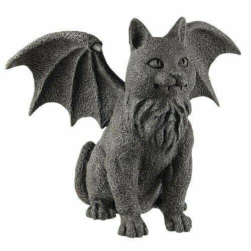 AzureGreen SC321 Winged Cat Gargoyle