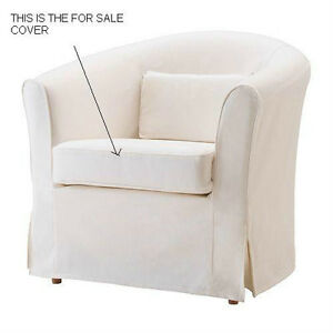 Seat pad COVER for Ikea Ektorp Tullsta in Off White Color