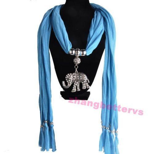 Pendant scarf scarves shawls ebay elephant pendant scarf aloadofball Images