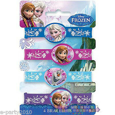 FROZEN RUBBER BRACELETS (4) ~ Birthday Party Supplies Favors Olaf Anna Elsa Cute - Olaf Birthday