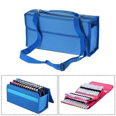 Copic Marker Storage Case - 80 Slots Marker Pen Storage Case Carrying Bag Holder Organizer For Copic