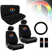 Peace Sign Seat Covers