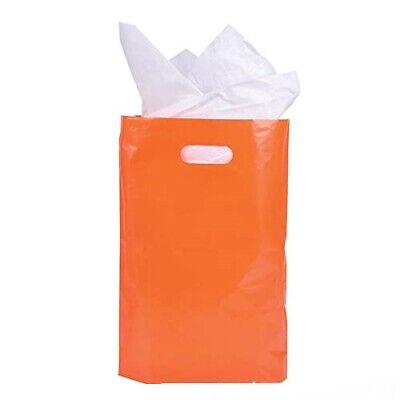 Plastic Solid Colored Party Treat Bags    50 Pack   - Plastic Treat Bags