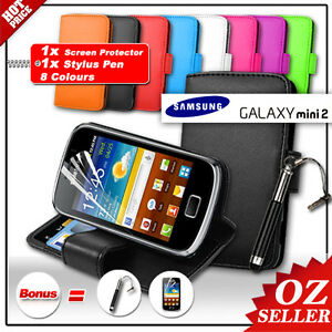 AU-Case-Stand-Wallet-Leather-1x-Samsung-Galaxy-Mini-2-S6500-For-Samsung