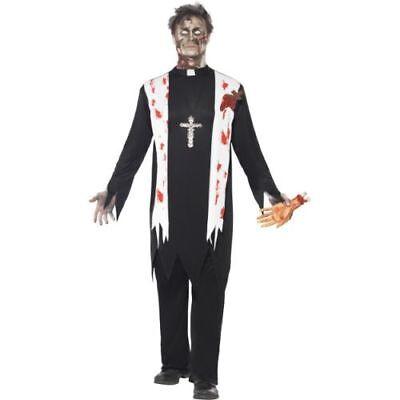 Halloween Herren Kostüm Zombie Priester blutig als Untoter (Halloween Kostüme Priester)