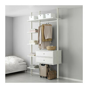 Ikea  One section Post Shelving Unit White