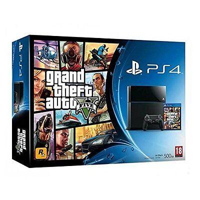 Playstation 4 - Sony PlayStation 4 Grand Theft Auto GTA 5 Bundle Very Good 0Z
