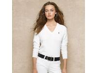Brand new white raulph lauren white jumper