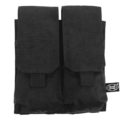 Double Pistol Mag Magazine Ammo Range Pouch MOLLE System Tactical Black