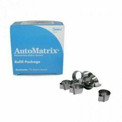 Dental Automatrix Retainerless Matrix Bands Wide Regular 72 Pcs Dentsply