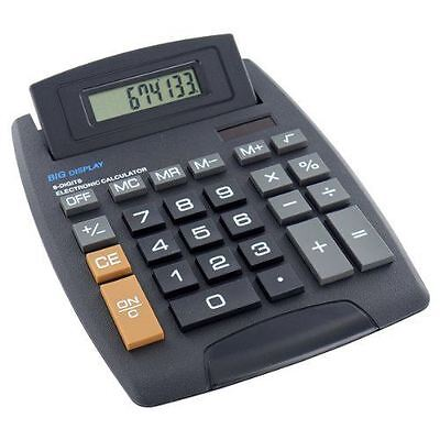 Jumbo Home Office Desktop Calculator 8 Digit Large Button School Battery Solar