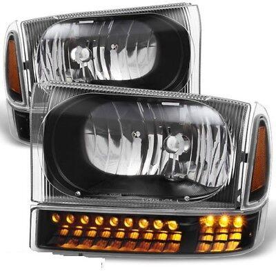 TIFFIN ZEPHYR 2000 2001 2002 BLACK HEADLIGHTS HEAD LAMPS LED SIGNAL LIGHT SET RV