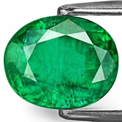 ZAMBIA Emerald 3.20 Cts Natural Untreated Deep Velvet Green Oval
