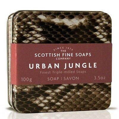 Scottish Fine Soaps Urban Jungle Tin   Snake Design 100G 3 5Oz