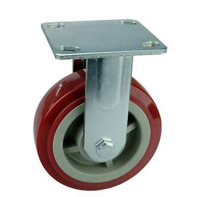6 Inch Caster Wheel 617 Pounds Fixed Polyurethane Top Plate