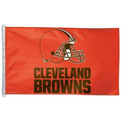 CLEVELAND BROWNS 3'X5' HOUSE FLAG OR WALL BANNER NFL LICENSED USA SELLER Cleveland Browns Wall Banner