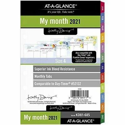 My Month 2021 Monthly Planner Refill By At-a-glance Kd81-685 Size 4