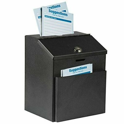 Adir Wall Mountable Steel Suggestion Box With Lock - Donation Box - Collection -