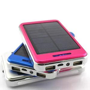 100000mah solaire chargeur batterie double usb externe t l phone mobile ebay. Black Bedroom Furniture Sets. Home Design Ideas