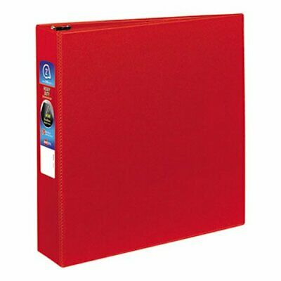 Avery Heavy-duty Vinyl Ezd Ring Reference Binder 2 Capacity Red Ave79582