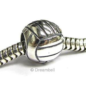 Sport #1 Volleyball Football Golf Basketball Rugby Soccer European Bead Charm