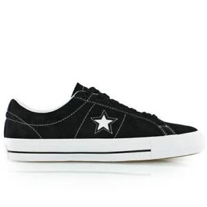 NEW CONVERSE ONE STAR BLACK WHITE SHOES SNEAKERS