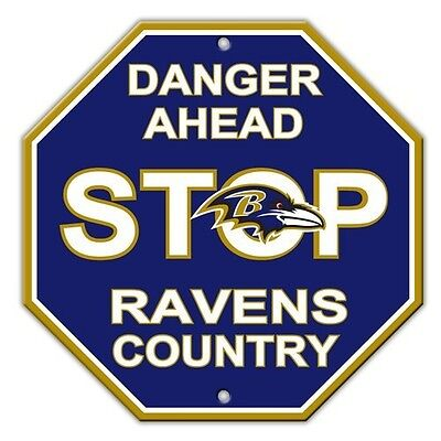 NFL Baltimore Ravens Stop Sign Room Bar Decor NEW 12 x - Baltimore Ravens Room Decor