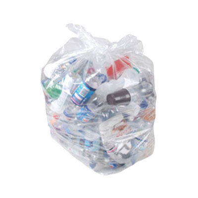 Clear Sacks (200) Recycling Bags Refuse Sacks Clear Bags Wholesale Strong Zeon
