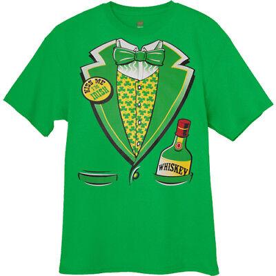 Big and Tall T-shirt - St. Patricks Day Irish Tuxedo Whiskey Beer Bar Crawl
