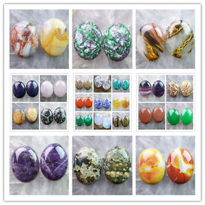 40x30mm-Mixed-Gemstone-Oval-CAB-CABOCHON-2pcs-Or-4pcs-please-Pick-Stone-LX-2