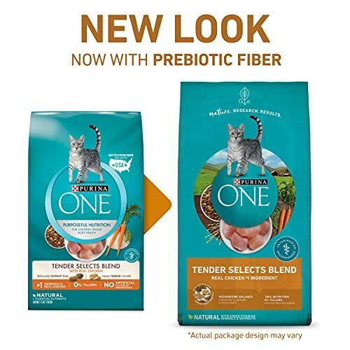 Purina ONE Natural Dry Cat Food, Tender Selects Blend With Real Chicken - 16 Lb. - $40.74