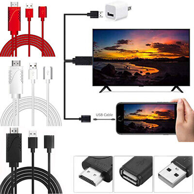 1080P USB Female to HDMI Male HDTV AV Adapter Cable For Cell Phone & Tablets