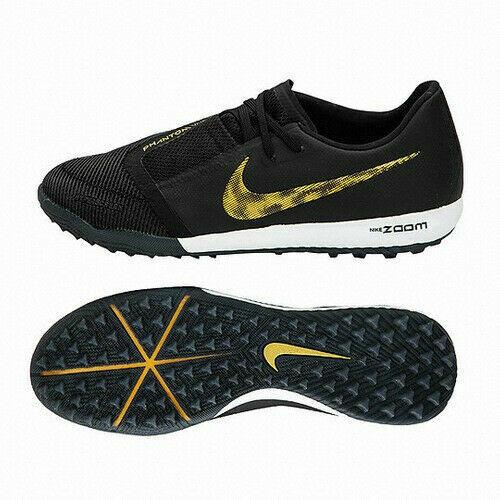 Nike Zoom Phantom Venom Pro TF Turf Soccer Cleat Black Gold BQ7497-077 Men